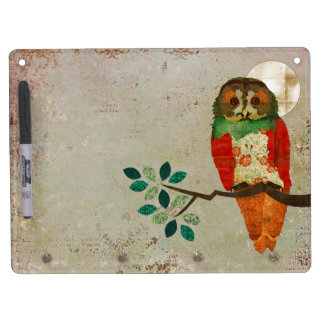 Rose Owl Full Moon Dry Erase Board