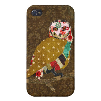 Rose Owl Green Damask iPhone Case iPhone 4/4S Covers