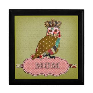 Rose Owl Mom's Gift Box