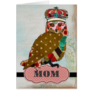 Rose Owl Mother's Day Card