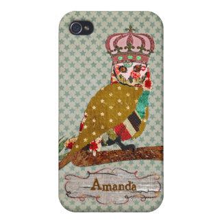Rose Owl Queen iPhone Case iPhone 4/4S Cases