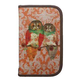 Rose Owls Amber Damask Planner