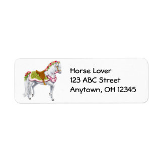 Rose Parade Horse Label