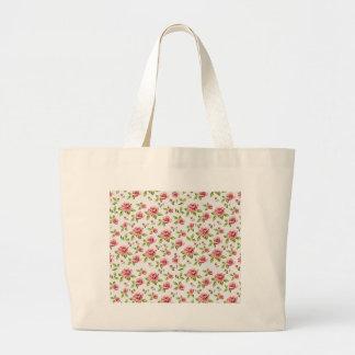 rose pattern large tote bag