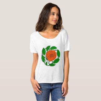 Rose Peach design on Women's Short-Sleeved T-Shirt