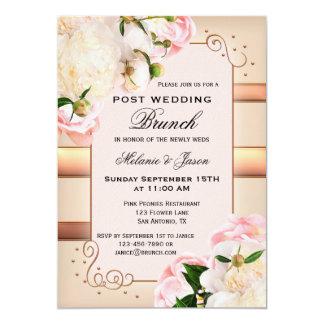 Rose Peonies Post Wedding Brunch Invitation