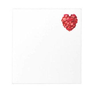Rose Petal Heart Scratch Pads