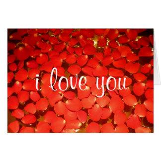 rose petal love card