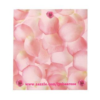 rose petal notepad