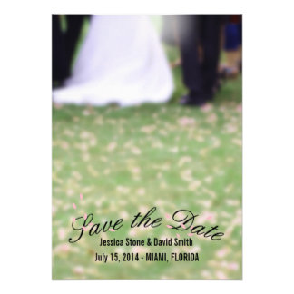 Rose Petal Path to Happiness Save the Date Cards
