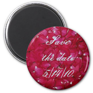 rose petal save the date fridge magnets