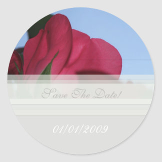 Rose Petal Save The Date Sticker