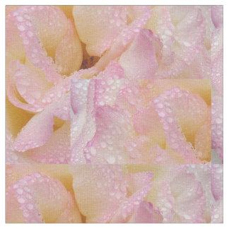 Rose petals and rain drops fabric