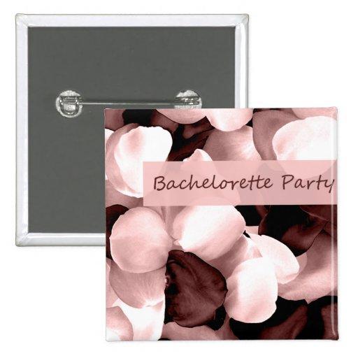 rose petals bachelorette party 15 cm square badge
