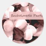 rose petals bachelorette party round sticker