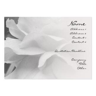 Rose Petals Black & White Blend Profile Card Business Card