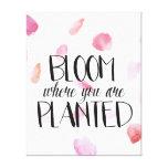 Rose Petals Bloom Gallery Wrap Canvas