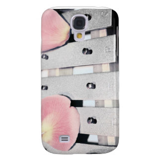 Rose Petals on Metal Bells Faded style Galaxy S4 Cover