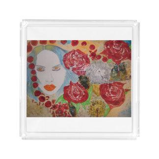 Rose Petals  perfume tray
