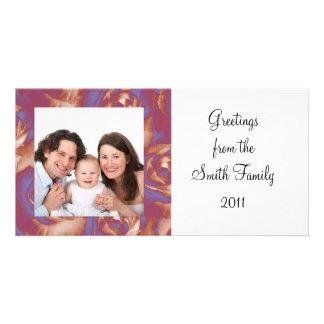Rose/ Photo Photo Greeting Card