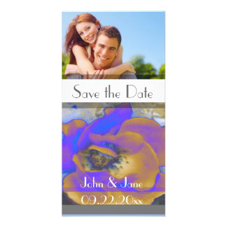 """Rose  /photo  """"Save the Date"""" Personalised Photo Card"""