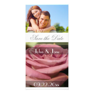 """Rose  /photo  """"Save the Date"""" Customized Photo Card"""