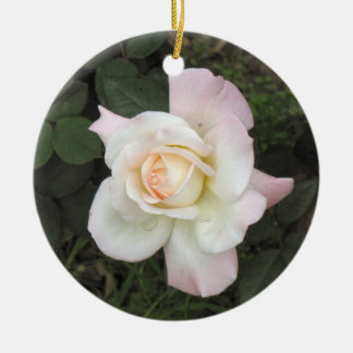 Rose photograph christmas tree ornament