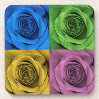 Rose Photography Color Collage Coaster