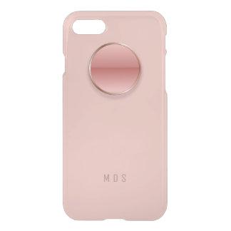 Rose Pink Button Monogram iPhone 7 Case