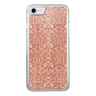 Rose Pink Floral Damask Carved iPhone 7 Case