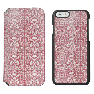 Rose Pink Floral Damask Incipio Watson™ iPhone 6 Wallet Case