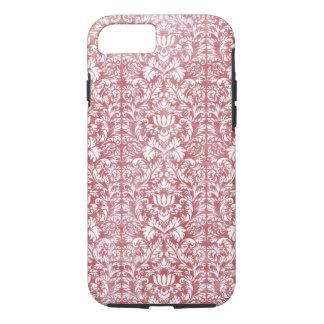 Rose Pink Floral Damask iPhone 8/7 Case
