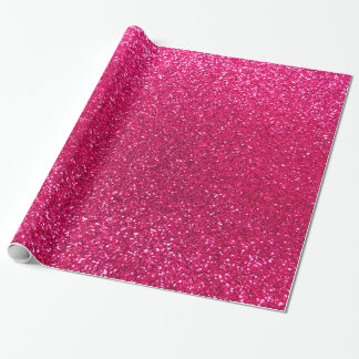 Rose pink glitter wrapping paper