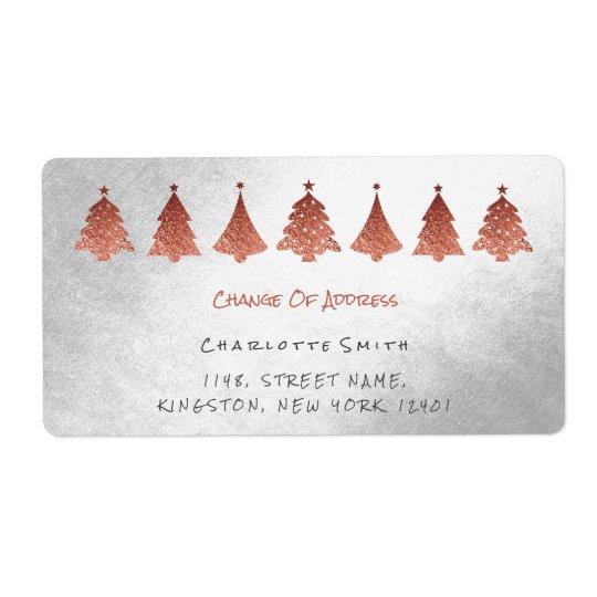 Rose Pink Gold Silver Change Address Labels