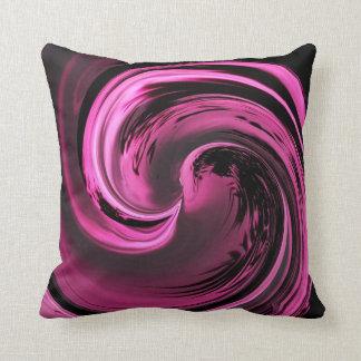 Rose Pink Island Wave Throw Pillow