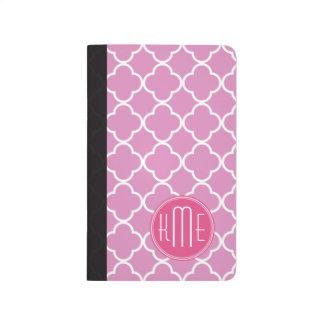 Rose Pink Quatrefoil with Custom Monogram Journals