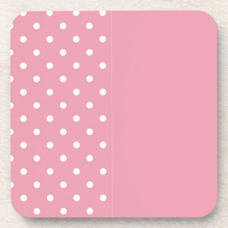 Rose Pink Template Beverage Coasters