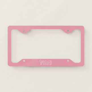 Rose Pink Template Licence Plate Frame