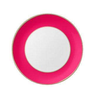 Rose Pink Valentines Solid Porcelain Plate
