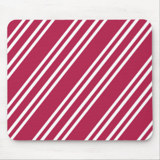 Rose Pink w/White Stripes Mouse Pad