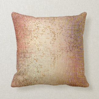 Rose Powder Gold Glam Brush Metallic Sequin Cushion