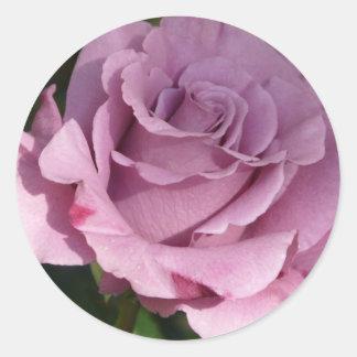 rose,purple round stickers