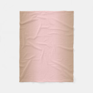 Rose Quartz and Iced Coffee Ombre Pink Brown Fleece Blanket