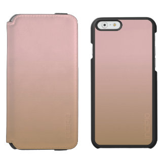 Rose Quartz and Iced Coffee Ombre Pink Brown Incipio Watson™ iPhone 6 Wallet Case
