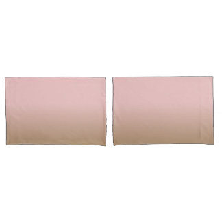Rose Quartz and Iced Coffee Ombre Pink Brown Pillowcase
