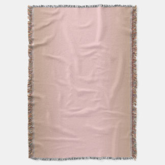 Rose Quartz and Iced Coffee Ombre Pink Brown Throw Blanket