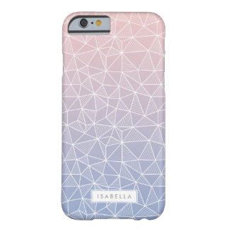 Rose Quartz and Serenity Ombre Geometric Pattern Barely There iPhone 6 Case