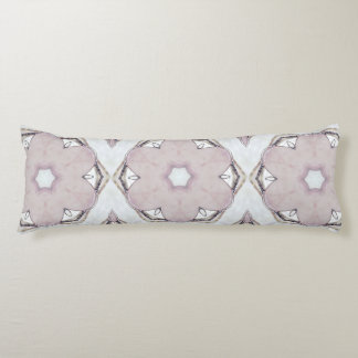 Rose Quartz and Silver Body Pillow