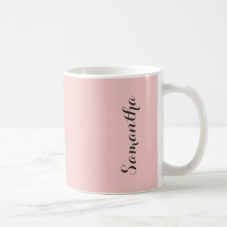 Rose Quartz Blush Pink Solid Color Personalized Coffee Mug