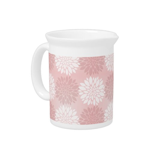 Rose Quartz Chrysanthemum Ombre Flower Kimono Pink Pitcher